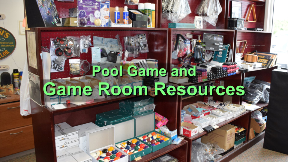pool game and game room resources